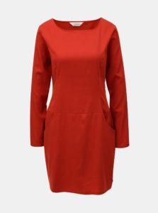 Červené šaty s vreckami SKFK Magde