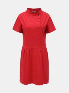 Červené vzorované šaty s gombíkmi SKFK Hiazinta