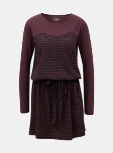 Vínové vzorované šaty na zaväzovanie SKFK Terese