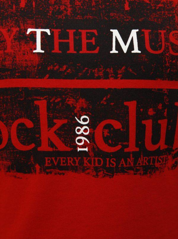 Červené chlapčenské tričko s dlhým rukávom Name it Morlando