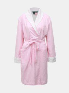 Bielo–ružový pruhovaný župan Lauren Ralph Lauren