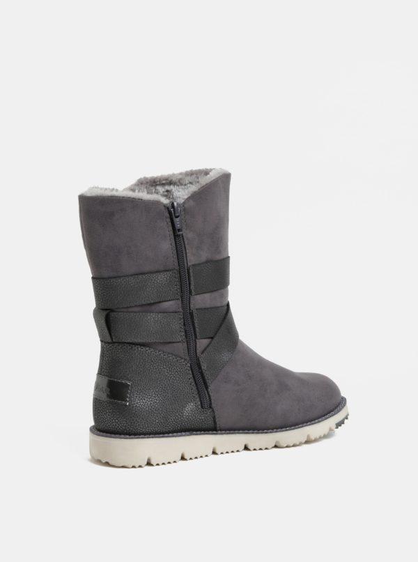 Sivé dámske zimné čižmy s umelou kožušinkou s.Oliver  6b1ed946d63