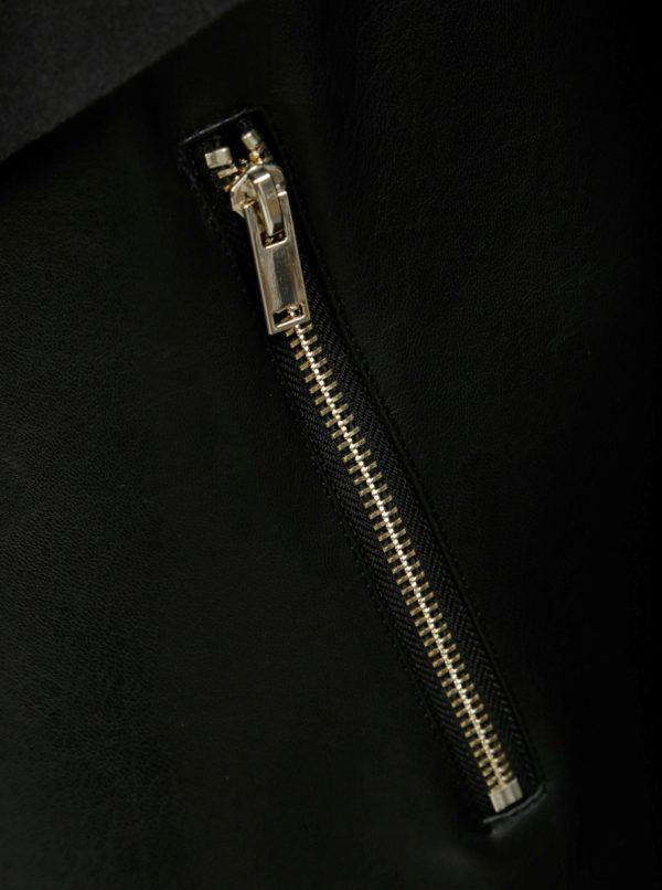 Čierna koženková bunda s umelou kožušinkou Dorothy Perkins Tall ... e3056b6d68c