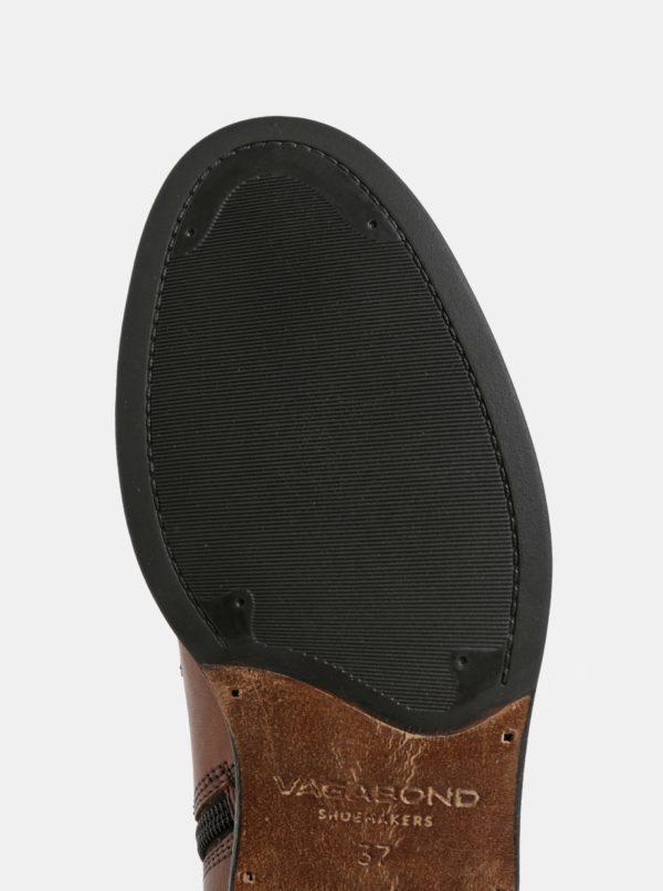Hnedé dámske kožené členkové topánky Vagabond Amina  dc2a06f2ccc