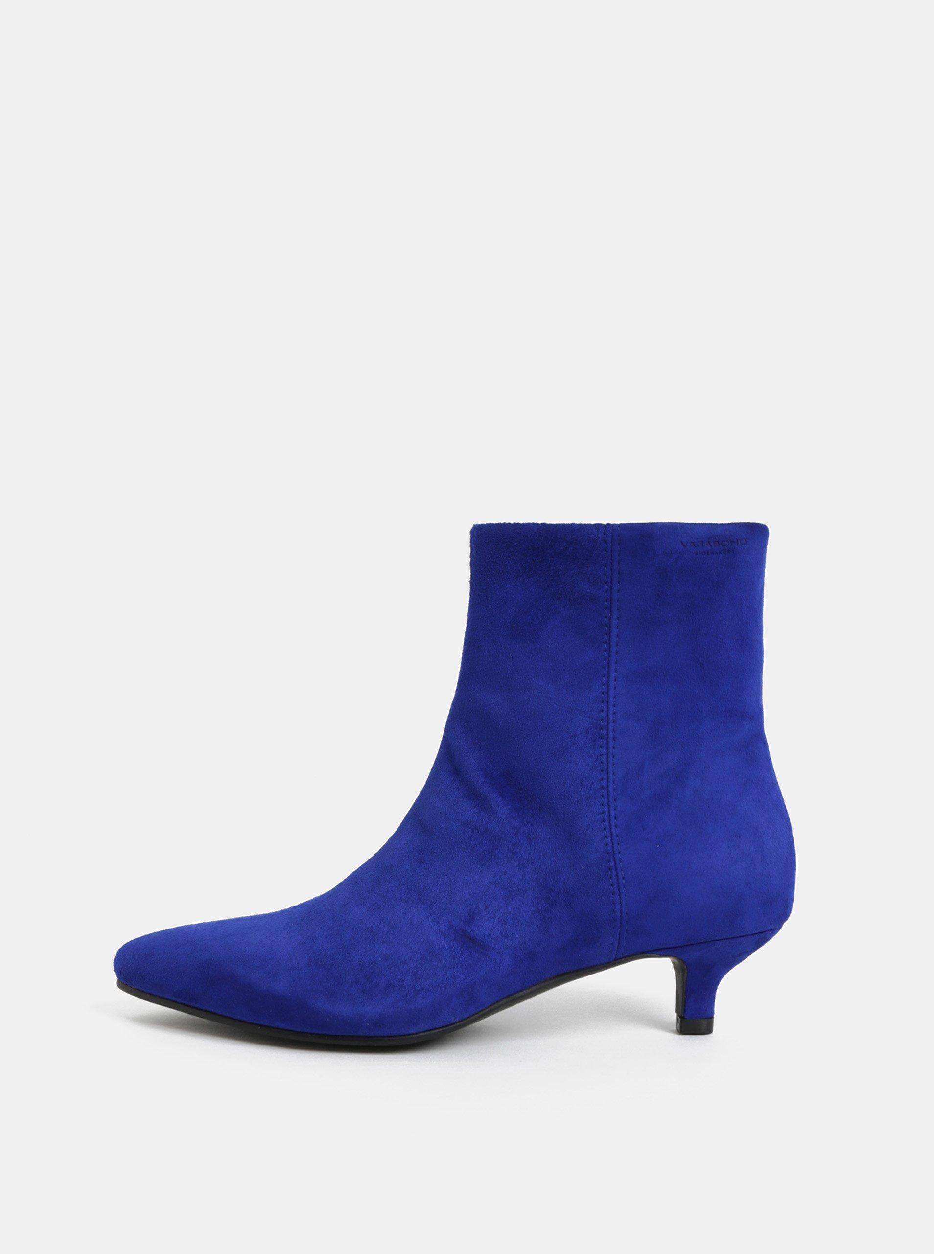 f1137b2d57 Modré dámske semišové členkové topánky Vagabond Minna