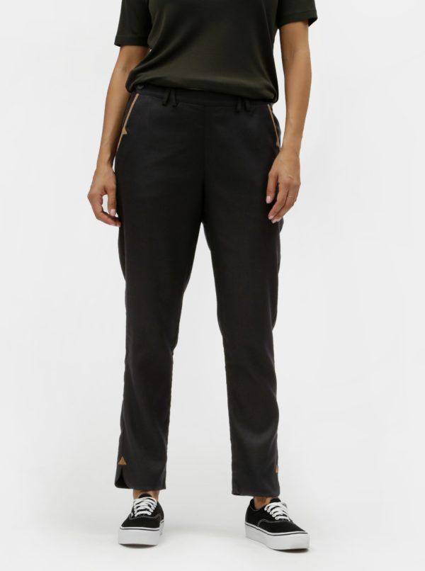 Čierne nohavice s rozparkami SKFK
