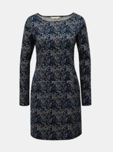 Bielo–modré vzorované šaty s vreckami SKFK
