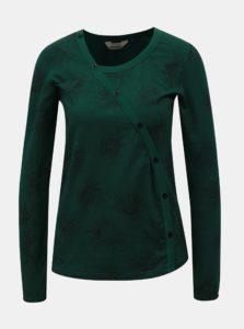 Zelené vzorované tričko s dlhým rukávom SKFK