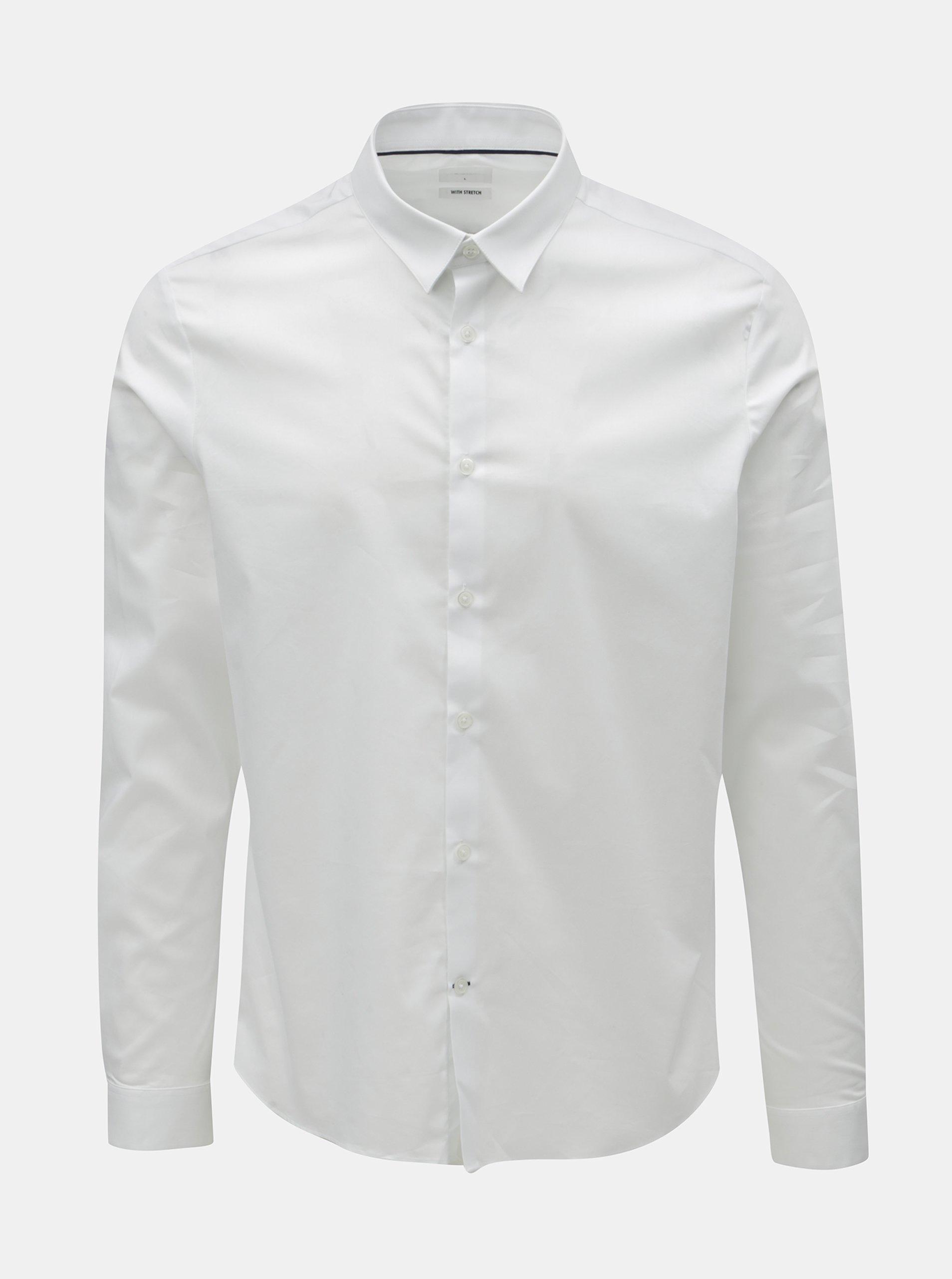 326b125e9864 Biela formálna košeľa Burton Menswear London