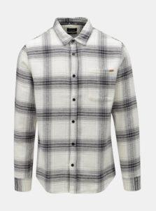 Sivo–biela regular kockovaná košeľa ONLY & SONS