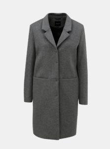 Sivý vlnený kabát Selected Femme Boa