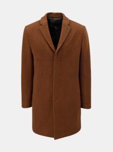 Hnedý vlnený kabát Selected Homme