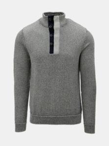 Modro–sivý sveter Jack   Jones c4005de4457