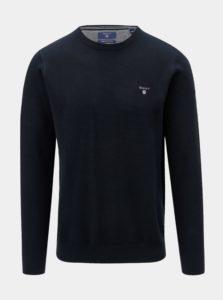 Tmavomodrý pánsky sveter s výšivkou GANT