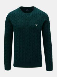 Tmavozelený pánsky sveter s výšivkou GANT