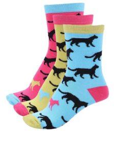 Súprava troch farebných dámskych ponožiek so šelmami Oddsocks Holly
