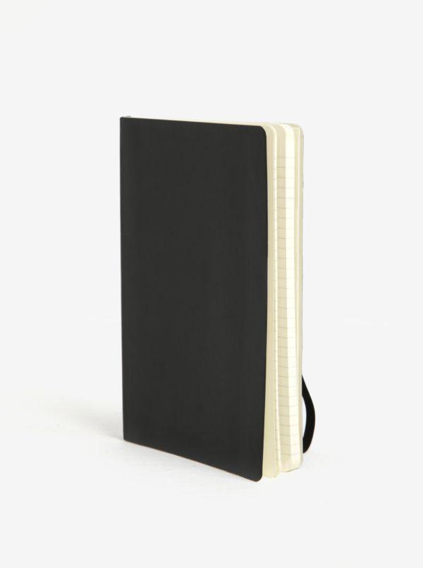 Čierny linkovaný zápisník v mäkkej väzbe Moleskine