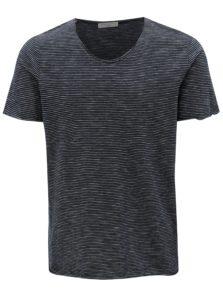 Tmavomodré pruhované tričko Selected Homme New merce
