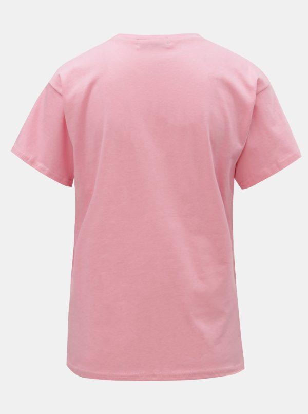 Ružové tričko s potlačou ELVI