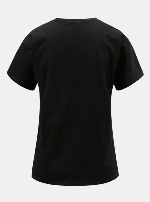 Čierne tričko s potlačou ELVI
