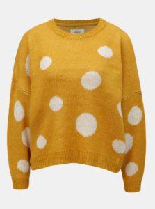 Horčicový bodkovaný sveter ONLY Tiffany