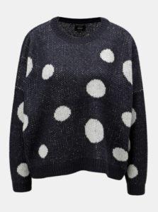 Tmavomodrý bodkovaný sveter ONLY Tiffany