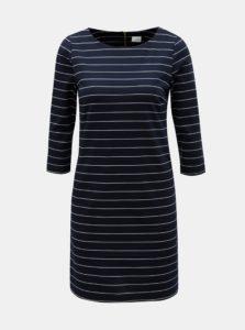 Tmavomodré pruhované šaty VILA