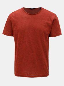 Červené melírované basic tričko ONLY & SONS