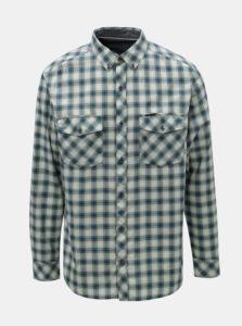 Modro–zelená pánska károvaná košeľa BUSHMAN Gresham
