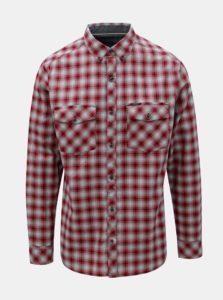 Modro–červená pánska károvaná košeľa BUSHMAN Gresham
