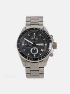 Pánske hodinky v striebornej farbe Fossil Decker