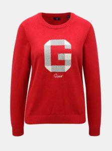 Červený dámsky sveter s prímesou vlny GANT Logo Crew