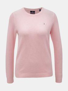 Ružový dámsky sveter s vyšitým logom GANT Pique Crew