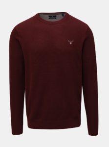 Vínový pánsky sveter s vyšitým logom GANT