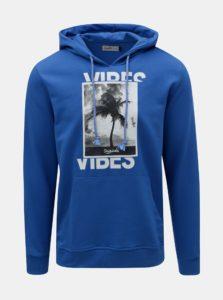 Modrá mikina s potlačou Jack & Jones Why