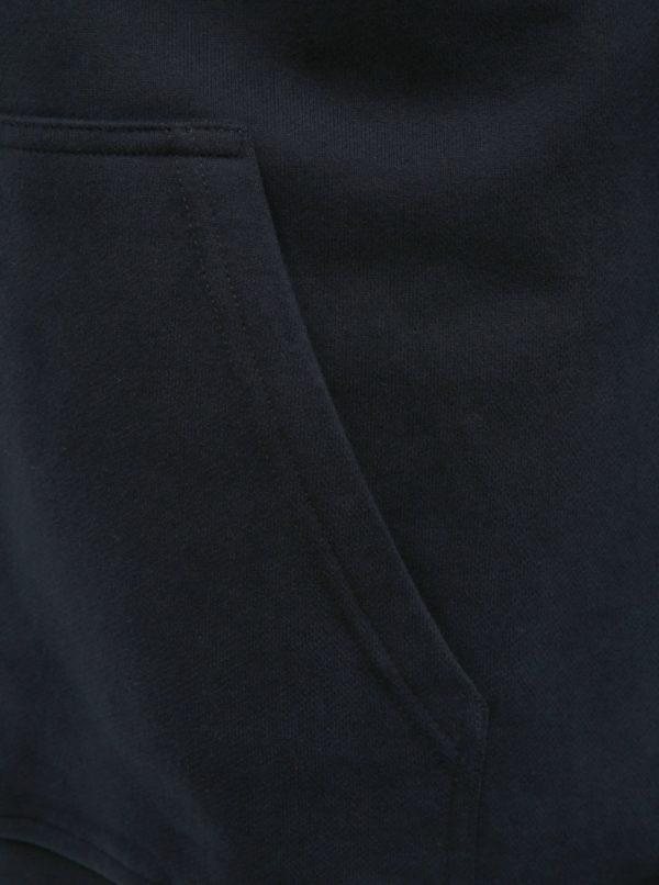 Modrá pánska mikina s potlačou a výšivkou HELLY HANSEN