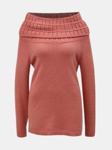 Ružový sveter s golierom Yest