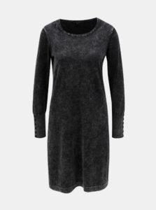 Sivé melírované mikinové šaty Yest