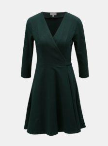 Tmavozelené zavinovacie šaty Apricot