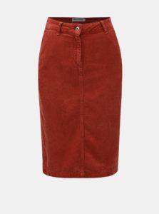 Tehlová menčestrová konopná sukňa Kings of Indigo