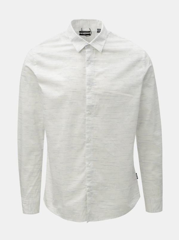Biela melírovaná slim fit košeľa ONLY & SONS Oneill