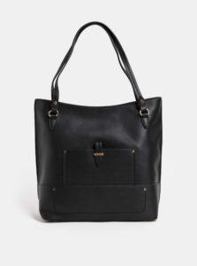 Čierna veľká koženková kabelka Dorothy Perkins