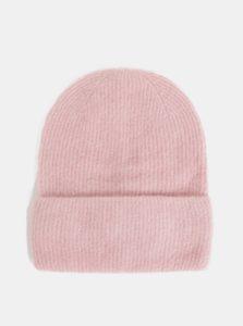 Ružová vlnená čiapka Pieces Josefine