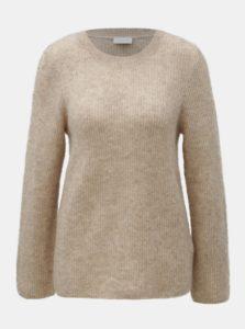 Béžový vlnený sveter s prímesou mohéru VILA Tura