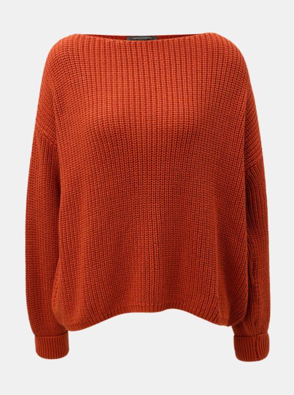 Oranžový oversize sveter French Connection