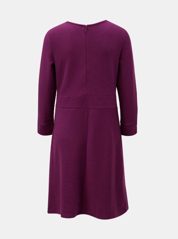 Fialové šaty s dlhým rukávom Nautica