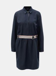 Tmavomodré šaty s gumou v páse Nautica