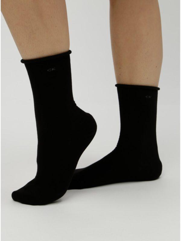 Balenie troch párov dámskych ponožiek v čiernej farbe Calvin Klein Jeans