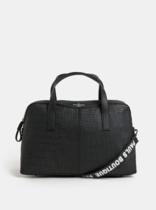 Čierna koženková taška Paul's Boutique Christine