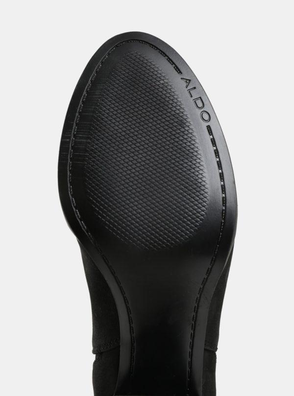 61ba42722be84 Čierne dámske kožené chelsea topánky ALDO Pessa   Moda.sk